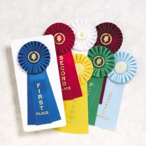 Flat ribbons and rosettes