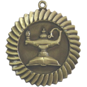 Sun Star Lamp of Knoledge Medal